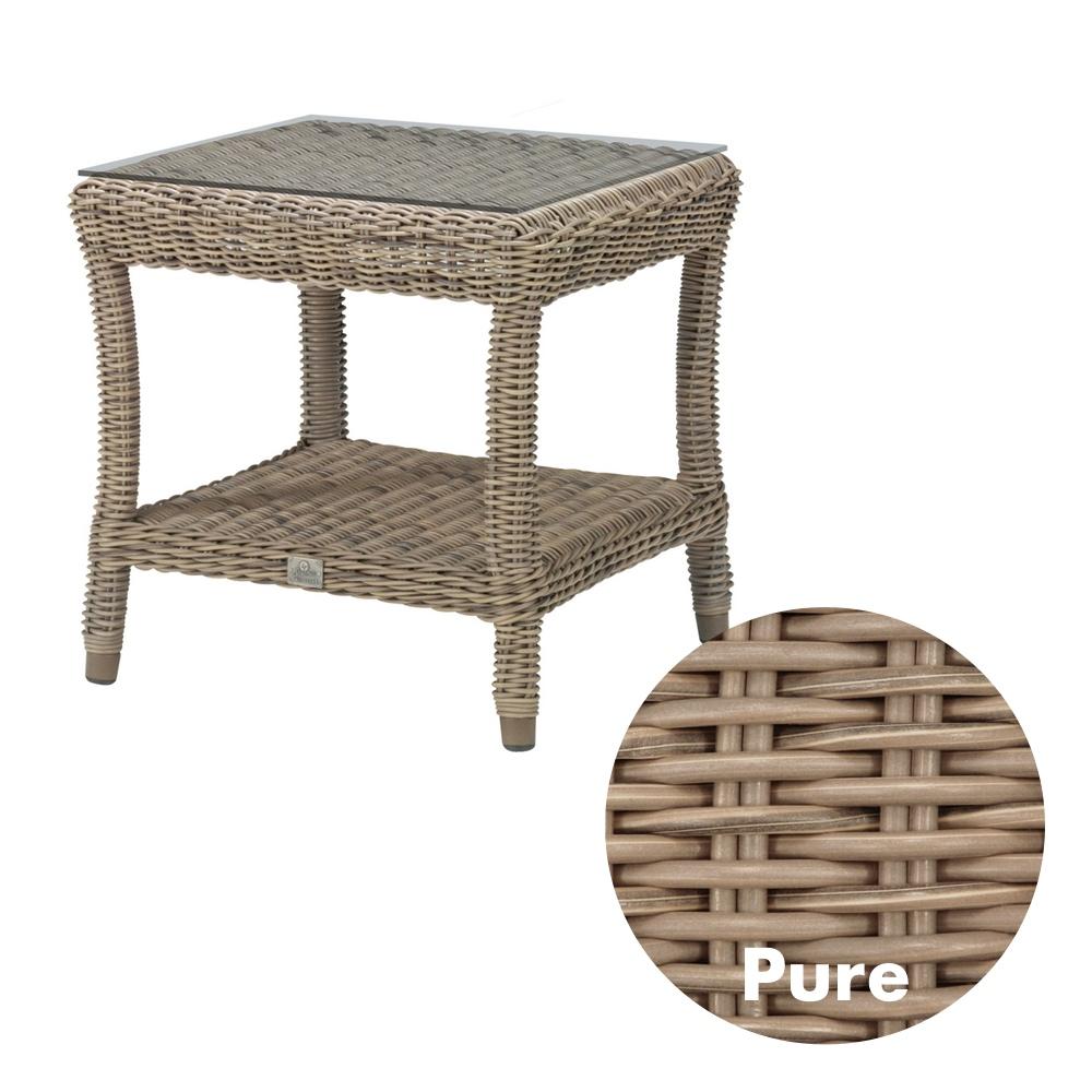 Gartentisch 4SEASONS «Buckingham PURE» Beistelltisch 60x60cm, Rattan | Vom  Gartenmöbel Fachhändler