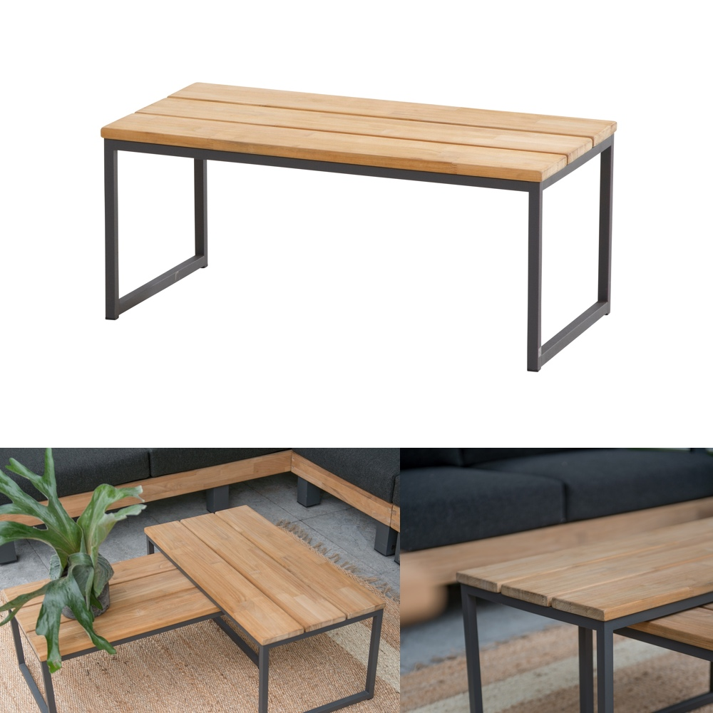 Gartentisch 4Seasons «Essence» Couchtisch 82x42, Aluminiumgestell ...