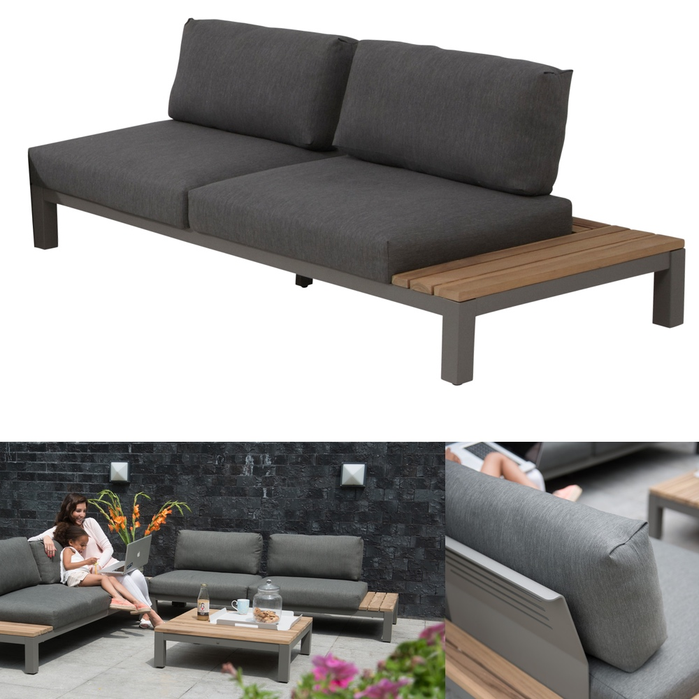 gartenbank 4seasons fidji 2 er sofa teakholz inkl kissen vom gartenm bel fachh ndler. Black Bedroom Furniture Sets. Home Design Ideas