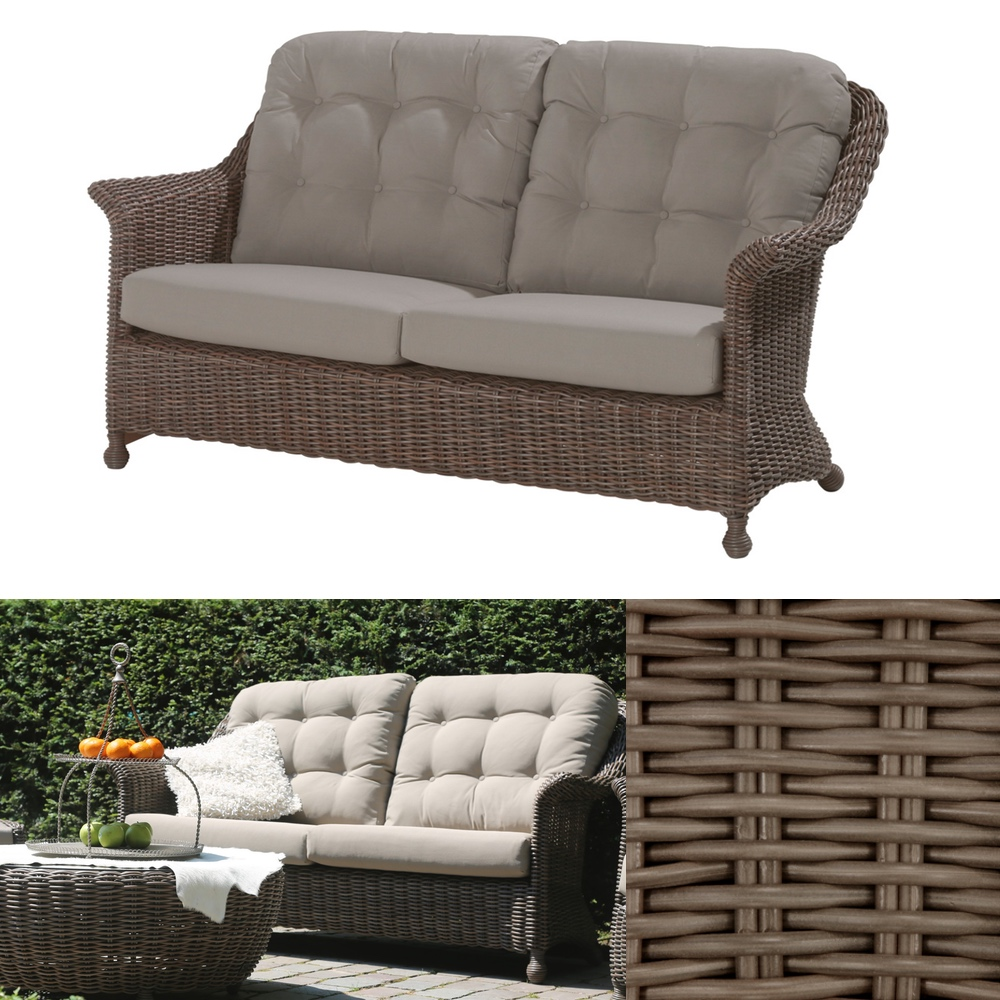 gartenbank 4seasons madoera 2 5er sofa polyrattan lounge premium vom gartenm bel fachh ndler. Black Bedroom Furniture Sets. Home Design Ideas