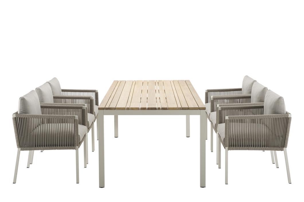 gartenstuhl solpuri club dining sessel taupe aluminium mit kissen vom gartenm bel fachh ndler. Black Bedroom Furniture Sets. Home Design Ideas