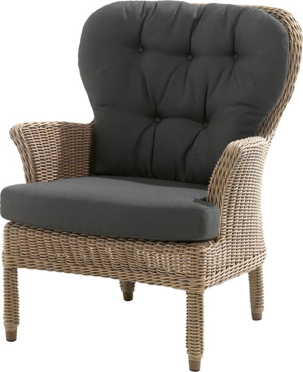gartenstuhl 4seasons buckingham pure sessel loungesessel korbsessel loungem bel rattan shop. Black Bedroom Furniture Sets. Home Design Ideas