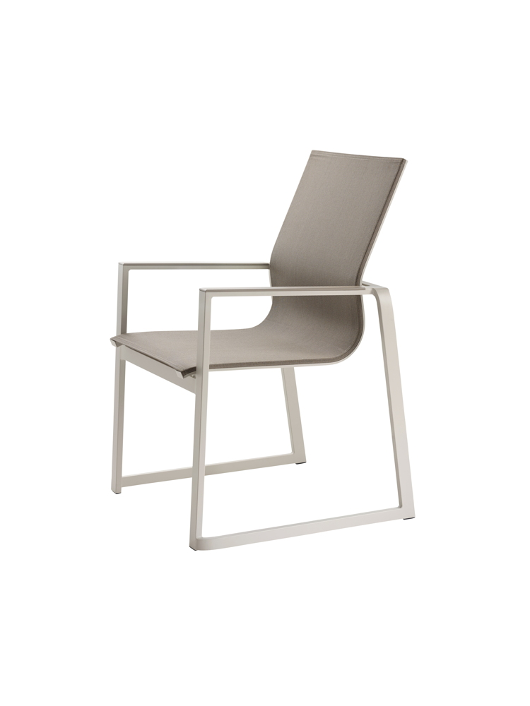 gartenstuhl solpuri foxx stapelsessel taupe aluminium. Black Bedroom Furniture Sets. Home Design Ideas
