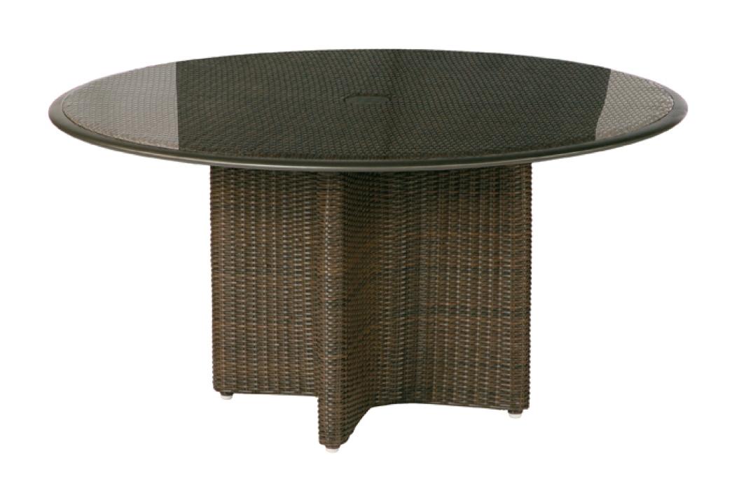 gartentisch barlow tyrie savannah esstisch 146cm geflechttisch mit glasplatte vom. Black Bedroom Furniture Sets. Home Design Ideas