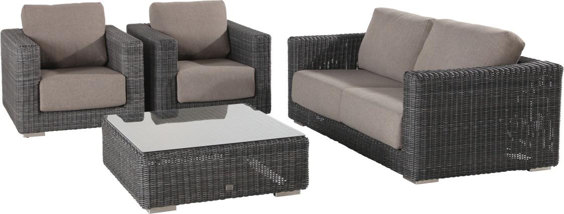 Rattanmöbel outdoor lounge  Polyrattan-Outdoor-Sitzgruppe «Somerset Variante 2» Lounge ...