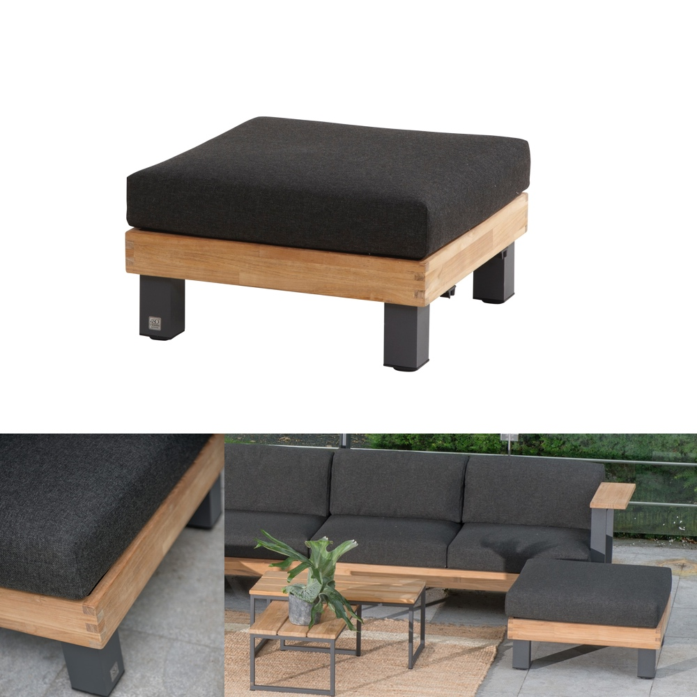 hocker 4seasons cordoba fu auflage loungemodul teak. Black Bedroom Furniture Sets. Home Design Ideas
