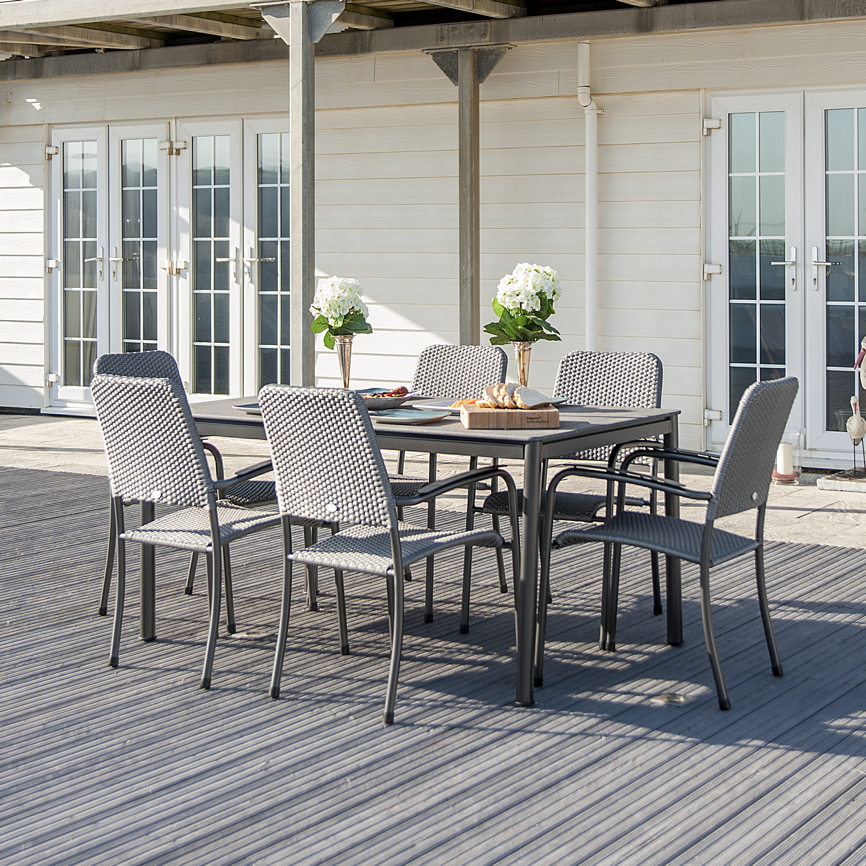 gartentisch alexander rose portofino lite 150x90 aluminiumtisch steinoptik vom gartenm bel. Black Bedroom Furniture Sets. Home Design Ideas
