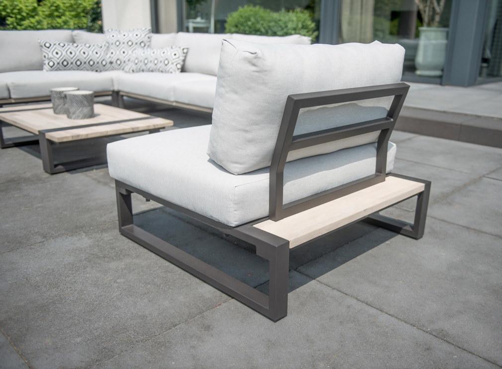 gartentisch 4seasons duke couchtisch 120x85cm aluminiumgestell teakholz vom gartenm bel. Black Bedroom Furniture Sets. Home Design Ideas