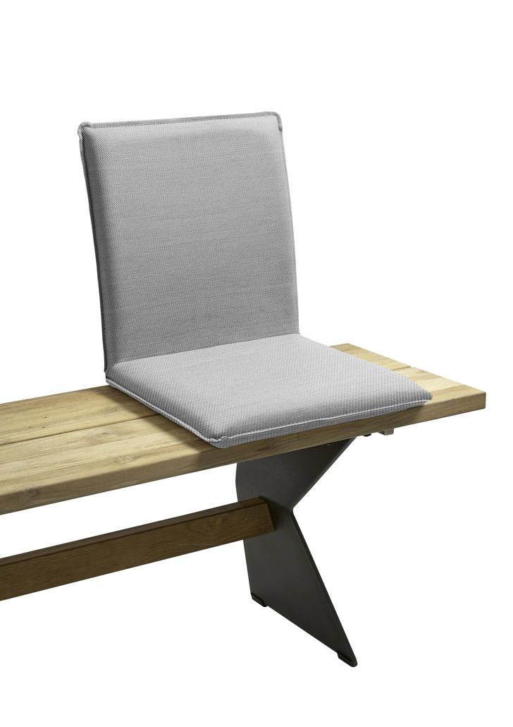 sitzschale niehoff nette sitzkissen f r gartenbank batyline grau vom gartenm bel fachh ndler. Black Bedroom Furniture Sets. Home Design Ideas