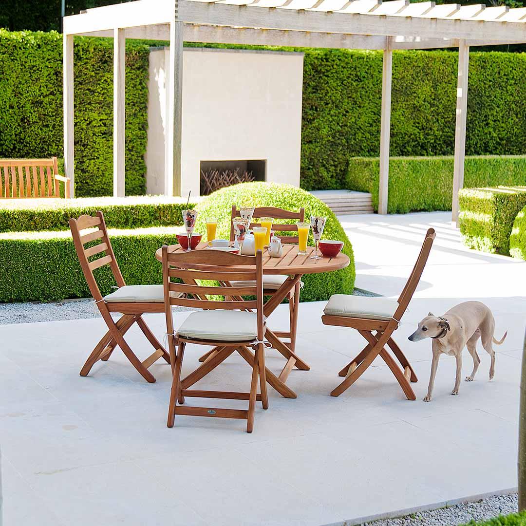 holz gartentisch alexander rose cornis klapptisch. Black Bedroom Furniture Sets. Home Design Ideas