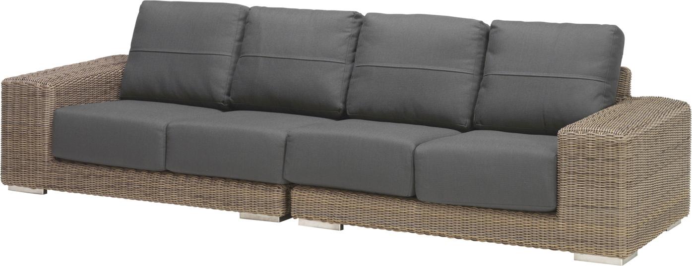 Gartenbank 4seasons kingston pure 4er sofa korbcouch for Sofa 8 personen