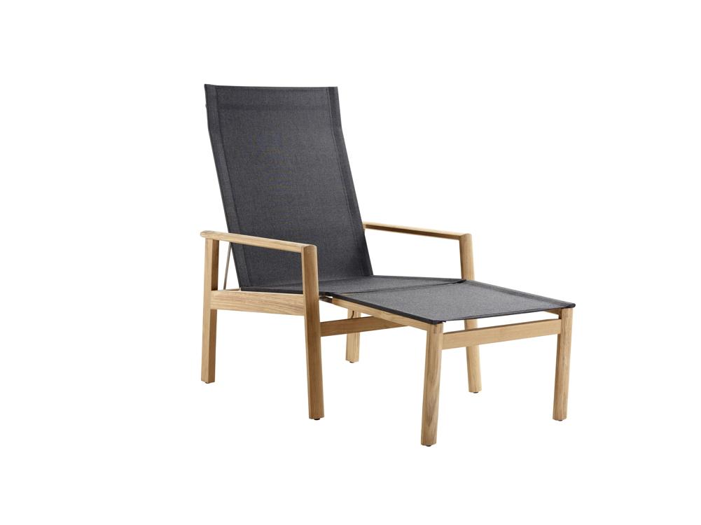 gartenstuhl solpuri safari deck chair mit hocker. Black Bedroom Furniture Sets. Home Design Ideas