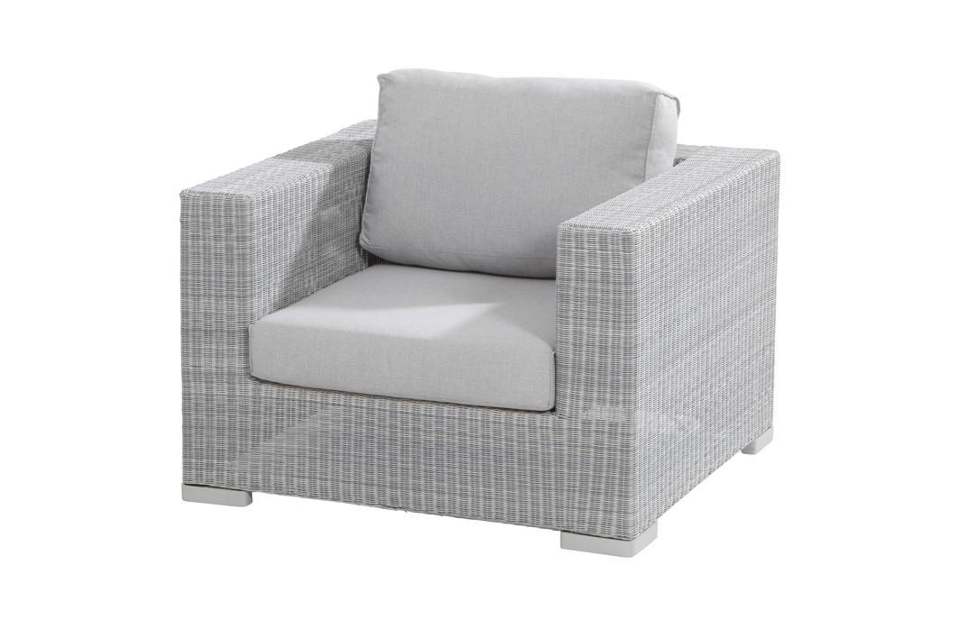 gartenstuhl lucca polyloom ice lounge sessel geflecht mit kissen loungem bel rattan shop. Black Bedroom Furniture Sets. Home Design Ideas