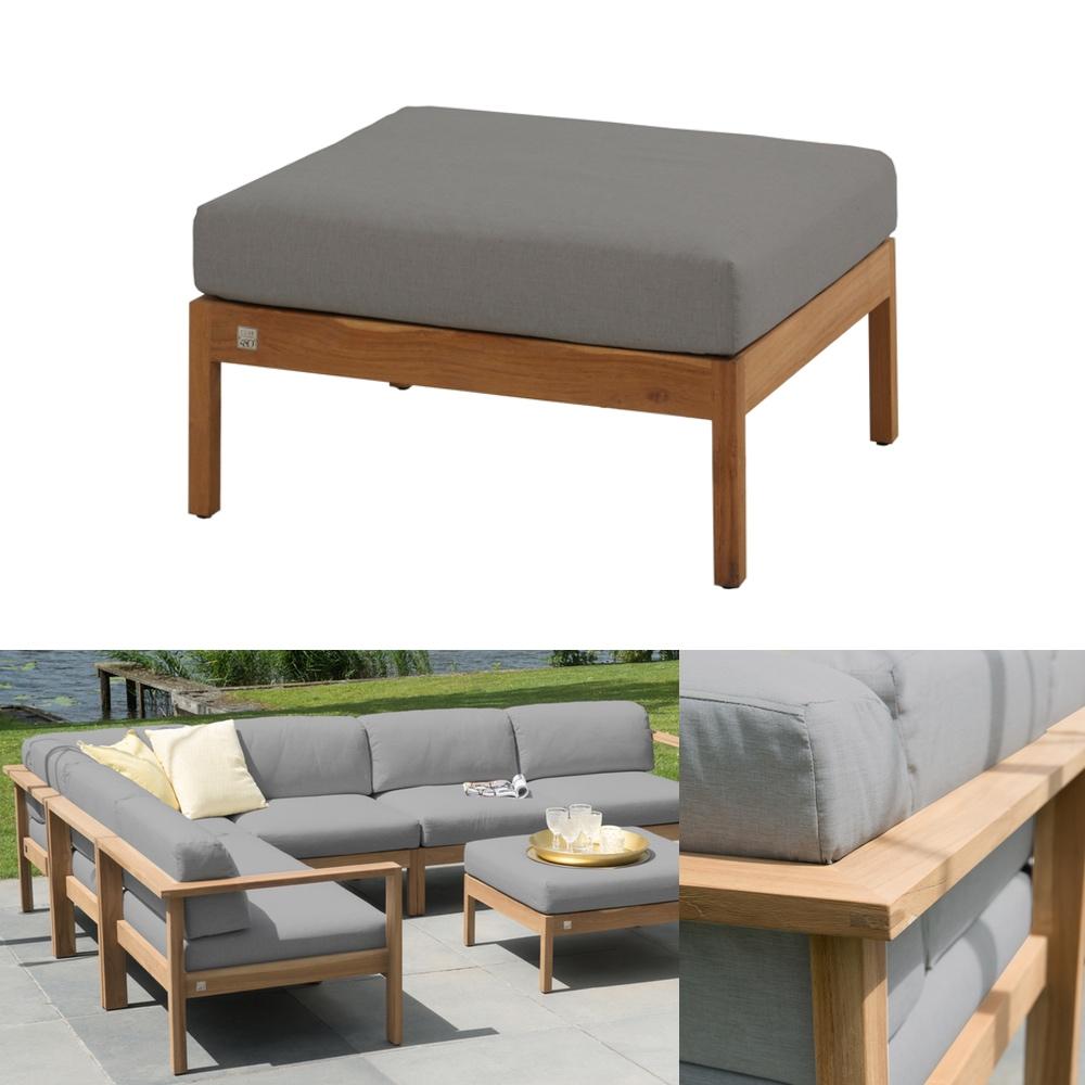 hocker 4seasons lido teak fu auflage teakholz kissen. Black Bedroom Furniture Sets. Home Design Ideas