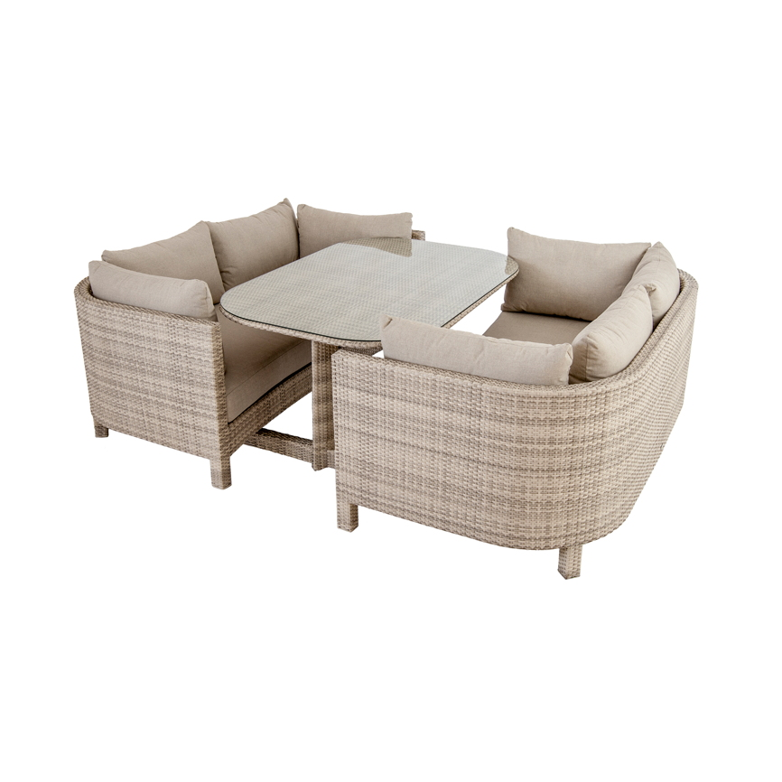 sitzgruppe alexander rose ocean pearl korbsessel set mit tisch rattan vom gartenm bel. Black Bedroom Furniture Sets. Home Design Ideas
